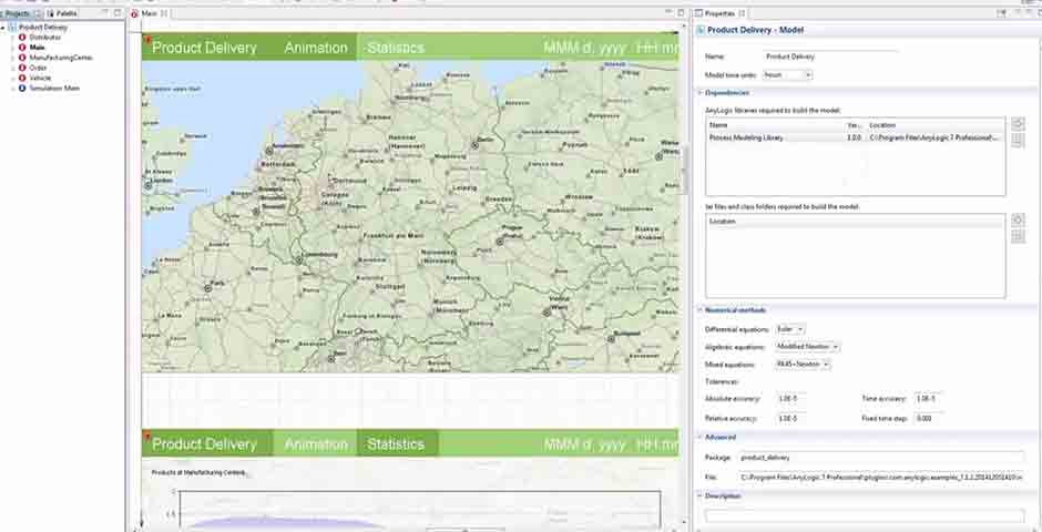 AnyLogic 7.1 Demo Featuring GIS