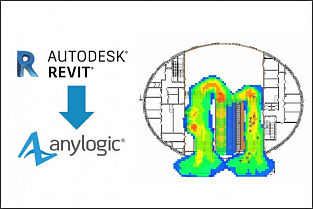 Интеграция Autodesk Revit и AnyLogic